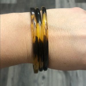 Ralph Lauren Tortoise Shell Bracelets Three